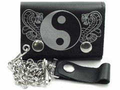 Cobra's Yin Yang Genuine Leather Chain Wallet