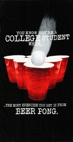 "College Beer Pong Experience Beach and Bath Towel (30"" x 60"")"