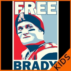 Color Free Brady Deflategate Football Kids T-shirt