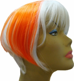 Colored Wigs :: Two Tone Hot Orange & White