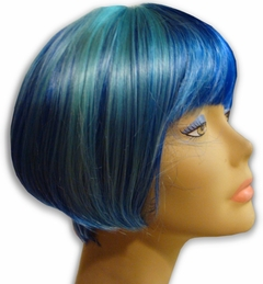 Colored Wigs - Two Tone Light Blue / Dark Blue Wig