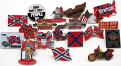 Confederate Flag and Redneck Pins (Assorted 10 Pack)