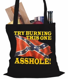 Confederate Flag - Burn This One Tote Bag