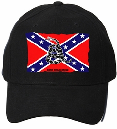 "Confederate Flag ""Don't Tread On Me"" Baseball Hat"