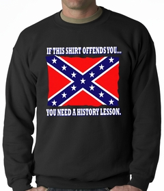 Confederate Flag History Lesson Adult Crewneck