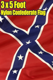 Nylon Confederate Flag - Confederate Rebel 3 x 5 FT