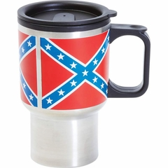 Confederate Flag Stainless Steel Travel Mug