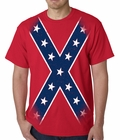 Confederate Flag T-shirt - Large Print Confederate Rebel Pride T-Shirt
