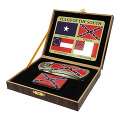 Confederate Flags of the South Knife and Lighter Set