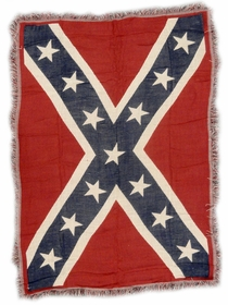 Confederate Rebel Battle Flag Woven Blanket (4 x 6 FT)