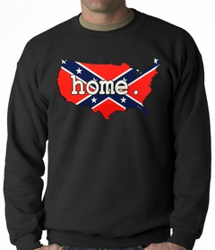 Confederate Rebel Flag America Home Adult Crewneck