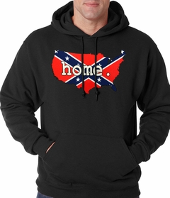Confederate Rebel Flag America Home Adult Hoodie