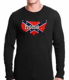 Confederate Rebel Flag America Home Thermal Shirt