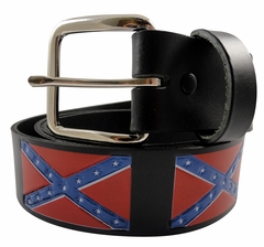 Confederate Rebel Flag Belt with Buckle