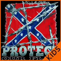 Confederate Rebel Flag - Protect Our Flag Kids T-shirt