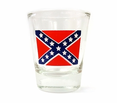 Confederate Rebel Flag Shot Glass
