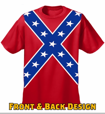Confederate Flag Tshirt - Confederate Rebel Pride All Over T-Shirt (Front and Back Print)<!-- Click to Enlarge-->