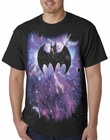 Cosmic Batman Logo Mens T-shirt