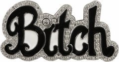 Couture Rhinestone Bitch Belt Buckle With FREE Leather Belt