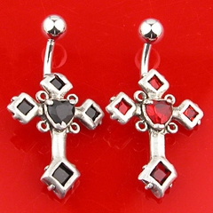 Navel Body Jewelry - Cross of The Cursed Belly Button Ring