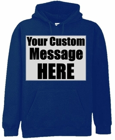 Custom  Saying Hooded Sweatshirt (Navy Blue)