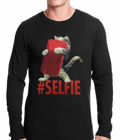 Cute #Selfie Kitten Thermal Shirt