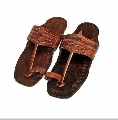 Dark Brown Unisex Water Buffalo Hippie Jesus Sandals<!-- Click to Enlarge-->
