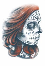 Day Of The Dead La Gitana Temporary Tattoo