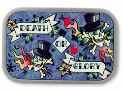 Death or Glory Tattoo  Belt Buckle With FREE Leather Belt