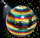 "Deluxe 12"" Multicolor Disco Mirror Ball"