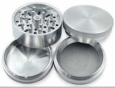 Herb Grinders - Deluxe Aluminum 3 Chamber Herb Grinder<!-- Click to Enlarge-->