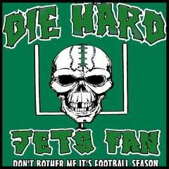 Die Hard Jets Fan Football Mens T-shirt