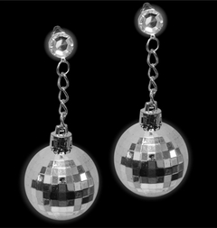 Disco Ball Clip On Earrings (Pair)