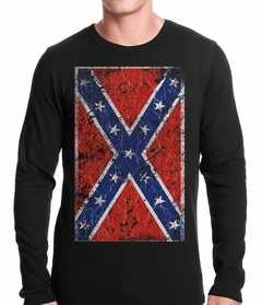 Distressed Confederate Flag Thermal Shirt