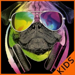 DJ Pug Kids T-shirt