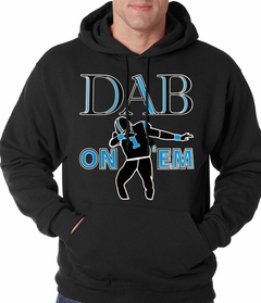 Dab On 'Em Football Player Adult Hoodie