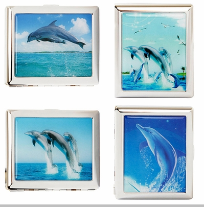 Dolphins Dancing Cigarette Case For Regular Size<!-- Click to Enlarge-->