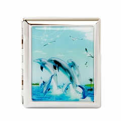 Dolphins Dancing Cigarette Case For Regular Size