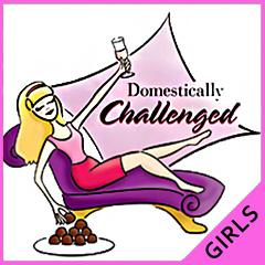 Domestically Challenged Girls T-Shirt