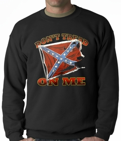 Don't Tread On Me Confederate Flag Adult Crewneck