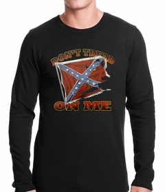 Don't Tread On Me Confederate Flag Thermal Shirt