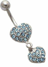 Double Heart Jewerly (Lt. Blue)