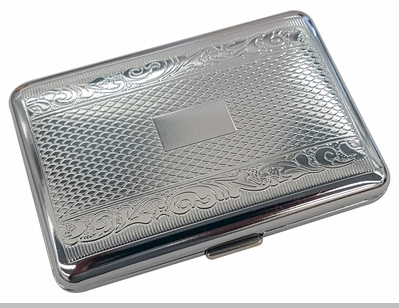 Double Sided Metal Engraved Cigarette Case (Regular Size Only)<!-- Click to Enlarge-->