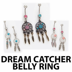 Navel Body Jewelry - Dream Catcher Belly Button Ring (Assorted)