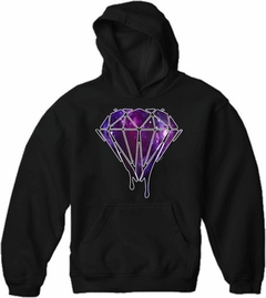 Dripping Purple Galaxy Diamond Adult Hoodie