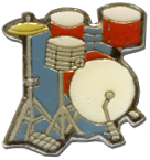 Drums Lapel Pin