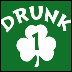 Drunk 1 Irish Shamrock Men's T-Shirt
