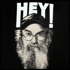 "Duck Dynasty ""Hey"" Men's T-Shirt (Black)"