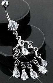Navel Body Jewelry  - Elegant Chandelier Dangle Navel Jewelry