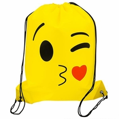 Emoji Drawstring Backpack in Assorted Emoji Styles